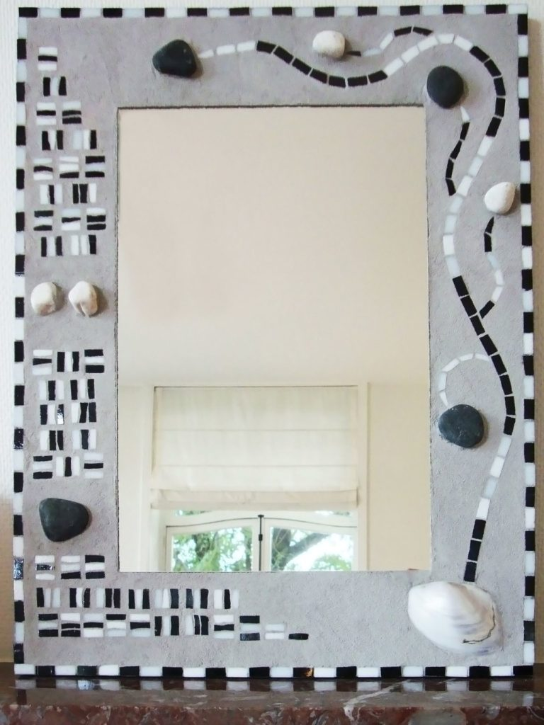 mosaïque miroir gris