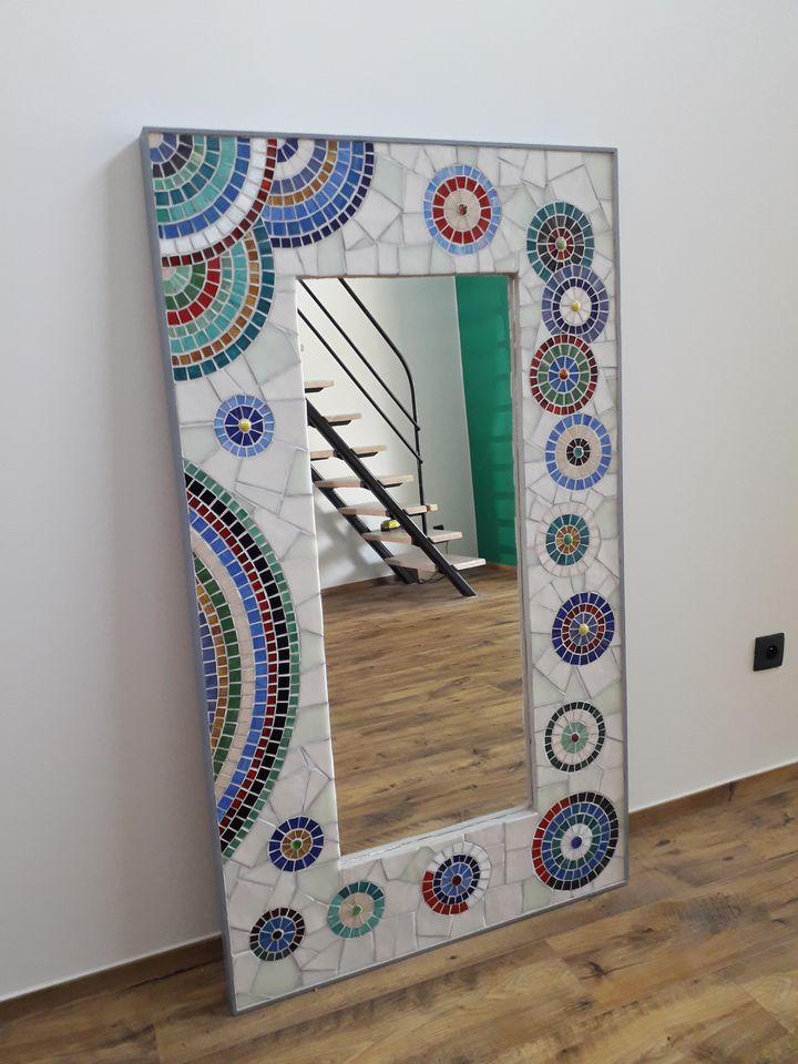 mosaïque miroir cercles